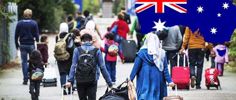نقش استرالیا در پذیرش پناهندگان