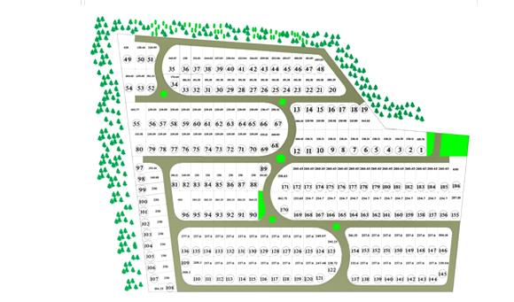 نقشه تفکیکی زمینها